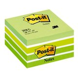 Cub notite adezive Post-it Aquarelle, 76 x 76 mm, 450 file, verde pastel